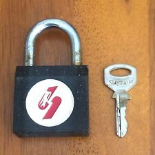 Vintage Slaymaker Lock and Key ~ Red and White S Logo