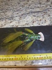 Vintage Unfished Folk Art Handmade and Painted Wotta Frog Type Fishing Lure