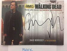 Walking Dead Season 4 PART 1 David Morrisey  - The Governor BLACK AUTOGRAPH DM2