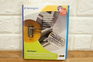 Kensington MicroSaver Combination Notebook Lock Ultra Laptop Locking Cable