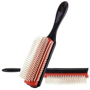 Denman Cushion Brush Nylon Bristle 9-Row Detangle Distribute ِProduct Curly Hair