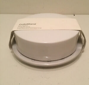 Crate and Barrel Vented Brie Baker White New