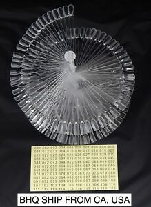 120pc False Nail Art Tip Stick Polish Display Spiral Fan Practice Stand Clear