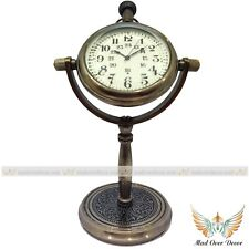 New listing Vintage Style Brass Clock Numeric Dial Ethnic Design Table Decorative Gift Watch