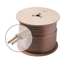 Eagle 100' FT 14 AWG GA Speaker Cable Wire 2 Conductor Copper Polarized Bulk