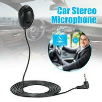 3.5mm Car Stereo Microphone Bluetooth Vehicle External Mic for GPS Audio Radio