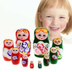 5pcs Purple Dolls Set Wooden Russian Nesting Babushka Matryoshka Hand Paint