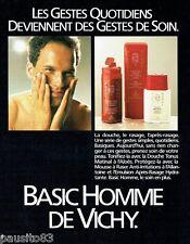 PUBLICITE ADVERTISING 116  1989  Vichy  soins pour homme Basic douche lotion