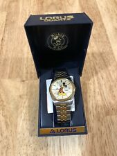 Vintage Men's Lorus Disney Mickey Mouse Presidential Day/Date Watch Spanish
