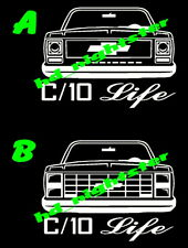 Chevy C10 Pick Up P/U Truck Square Body Custom Vinyl Decal Sticker