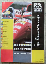 BELGIAN GRAND PRIX 1993 FORMULA ONE Spa Francorchamps Official Programme F1
