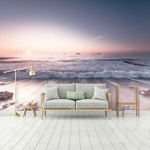 Vlies Fototapete Strand Nordsee Meer Wohnzimmer Sonnenuntergang XXL Landschaft 4