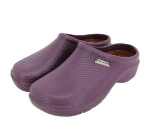 Town & Country Aubergine EVA Cloggies Lightweight Garden Shoe UK Size 6