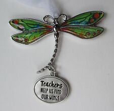 x Teachers help us find our wings DELIGHTFUL DRAGONFLY ORNAMENT CAR CHARM Ganz