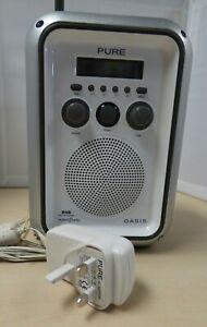 Pure Oasis DAB Digital Radio White Works untested E29