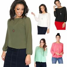 Hip Length Boho Long Sleeve Tops & Shirts for Women