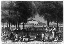 The Labor Exchange,Emigrants on Batery,Castle Garden,New York,1868,NY 5624
