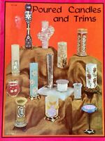 Poured Candles and Trims Craft Book Vintage 1965