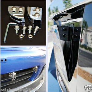Universal Car Adjustable License Plate Relocator Bracket Holder Mount Support