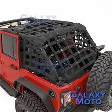 Off Road 4 Door Black Cargo Restraint Net System 4x4 Fit 07-17 Jeep JK Wrangler