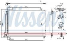 Kondensator, Klimaanlage NISSENS 941106 für SUZUKI