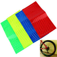 Fluorescent Cycling Bike Bicycle Wheel Rim Reflective Decal Stickers Reflector