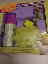 Shrek the Third Clean as an Ogre bath kit soap. Bath pouf.bath fizzies