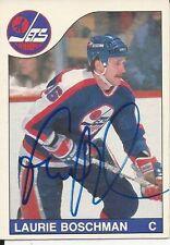 Signed Laurie Boschman Winnepeg Jets 85-86 O-PEE-CHEE  Hockey Card #251