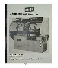 Hardinge 6' /& 12' Retractable Bar Feed Units Manual