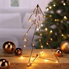 Mini Metall Tannenbaum 38 LED warmweiß 3D 3 D Weihnachtsbaum Baum Christbaum