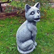 Steinfigur Katzen Gargoyle GARGOYL Katze Torwächter  Steinguss 42 cm frostfest