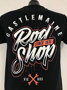 CASTLEMAINE ROD SHOP ORANGE SHIRT