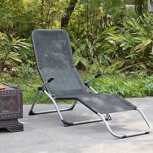 Sun Lounger Garden Recliner Foldable Rocking Chair Outdoor Furniture Patio