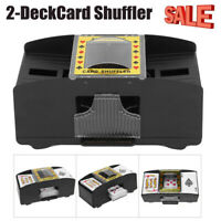 Automatic Electronic Poker Card Shuffler Electric Shuffling Machine 2 Decks New!