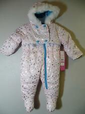 New Girl's $85 Wippette Pink & Silver Metallic Pram Bunting Snowsuit, Sz 6-9 Mos