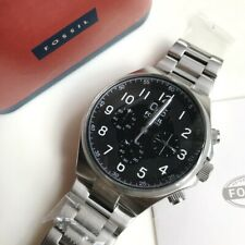 Fossil Watch * CH2902 Qualifier Chrono Black Face Silver Steel Men COD PayPal