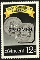 St. Vincent #1072 MNH Specimen CV$0.50 East Caribbean Currency Coins Perf 15