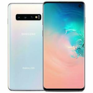 "Samsung Galaxy S10 G9730 White 128GB/8GB 6.1"" Snapdragon 855 Phone  By Fed-ex"