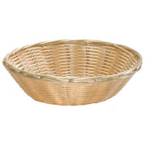 TABLECRAFT PRODUCTS COMPANY 1175W Handwoven Basket,Round, Natural,PK12