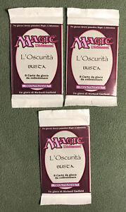 "MTG Italian THREE 3 ""The Dark"" Booster Packs! Sealed, 1994, Magic the Gathering."