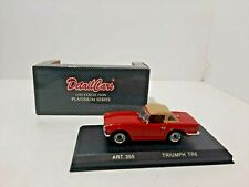 TRIUMPH TR6 1969 WITH SOFT TOP RED DETAIL CARS ART 355 1/43 DETAILCARS PLATINUM