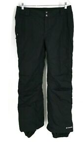 COLUMBIA - MEN'S LARGE - BLACK OMNI TECH WATERPROOF SNOW SKI PANTS