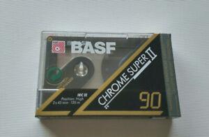 NEW OLD STOCK SEALED BLANK CASSETTE BASF CHROME SUPER II 100min    2
