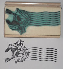 Scare Mail Postmark with Witch rubber stamp by Amazing Arts Halloween beautiful!