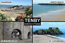 SOUVENIR FRIDGE MAGNET of TENBY WALES