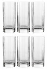 NEW Luigi Bormioli Glasses Set of 6 Crystal Old Fashioned Hi Ball Tall Glass