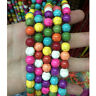 Wholesale Lots Turquoise Gemstone Round Loose Spacer Beads Jewelry Making 6/8mm