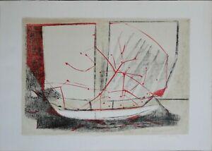 Enrico Della Torre litografia Composizione 70x50 firmata numerata La Spirale