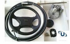 NEW  7.61m~25FT UNIVERSAL BOAT STEERING WHEEL SYSTEM QUICK CONNECT STEERING KIT