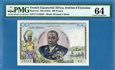 French Equatorial Africa, 100 Francs, 1957, Choice UNC-PMG64, P32